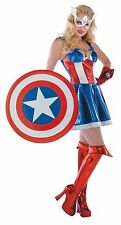 Captain America Prestige Adult Female Costume Size 12-14 - 50268