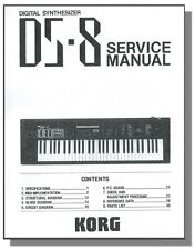 KORG DS-8 SERVICE MANUAL & PARTS LIST - DS8 DS 8