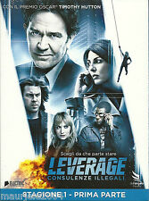Leverage. 1° Stagione. Vol. 1 (2008) Cofanetto 2DVD NUOVO Timothy Hutton C. Kane