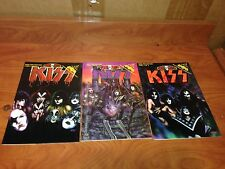 X3-42 Kiss Hard Rock Comic Pre History 1,2 and 3 Sign By ARTIST RARE!