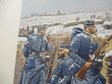Watercolour wash print of WW1 from the studio of a very nice  artist  french