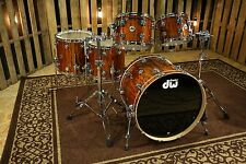 DW Drums Collector's Maple Candy Yellow Over Giant Quilted Sapele Exotic