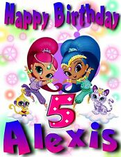 SHIMMER and SHINE Custom T-shirt Birthday PERSONALIZE ADD Name & Age