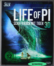 """LIFE OF PI - Schiffbruch mit Tiger"" - Ang Lee - BLU RAY - 2-Disc-Set - 3D + 2D"