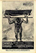 Stoewer-Werke A.G. Stettin Automobile Cabrio Flugmotoren LKW Annonce 1918