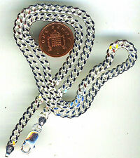 "20"" 925 Sterling Silver Solid Diamond Cut Curb Chain . Lobster Clasp + 32 grams"