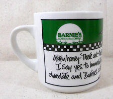 Barnie's Coffee and Tea Co Cup Mug Emerson 91 Drawing Backrubs Choc Coffee