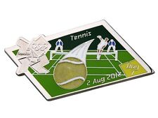 "OFFICIAL LICENSED LONDON 2012 OLYMPIC GAMES PIN / BADGE ""TENNIS"" DAY #7"