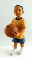 Dolls House Miniature 1:12 Scale People Resin Modern Figure Little Boy with Ball