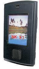 SILICONE TPU per cellulare Cover Case Guscio Guscio Custodia Protettiva in Nero per Nokia x3