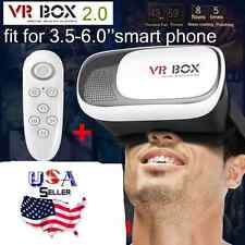 VR BOX 2nd Generation Virtual Reality 3D Glasses Bluetooth Control & Glass USA