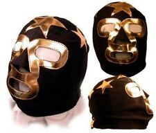 Kids Masked Superstar Black/Gold Pro Wrestling Mask WWE