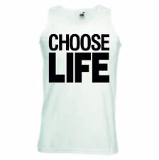 Choose Life T-Shirt or Vest 80's Retro Legend George Michael WHAM Pop