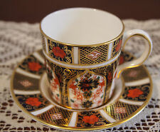 Royal Crown Derby Coffee Cup and Saucer 'Old Imari ' pattern 1128 mint