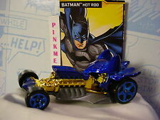 Batman 2016 Hot Wheels BATMAN Hot Rod✰Blue/Gold✰Loose Rogues Gallery✰DC Comics