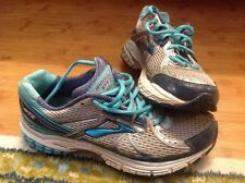 Brooks Adrenaline GTS 13 Silver Aqua Women's VGUC Size 8 B, Med, Running Shoes