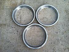 """(3) 15"""" Wheel Trim Rings,  Set of Stainless Beauty Rings 1 7/8"""" Deep"""
