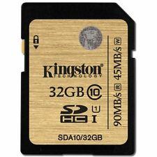 Kingston 32GB 32G 90MB/s SDHC SD Card Flash Memory Class 10 UHS-I 3D HD Video
