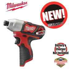 "Milwaukee 2462-20 M12 ¼"" Hex Impact Driver New"