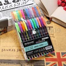 24x Color Gel Pen Glitter Scrapbooking Ink Pens Adult Drawing Painting Craft Art