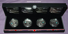 2009-2012 LONDON OLYMPICS COUNTDOWN SILVER PIEDFORT PROOF £5 CROWNS x 4 - CASED