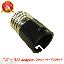 E27 to B22 LED Halogen CFL Light Base Bulb Lamp Adapter Converter Socket Holder