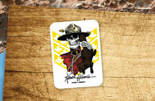 Lot of 2 Pieces POWELL PERALTA Kevin Harris Mountie Skateboard Vinyl Stickers