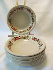 Wedgwood England QUINCE Oven to Table Eight (8) Coupe Soup Bowls