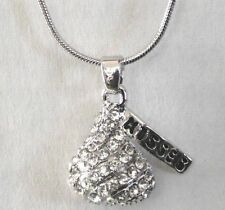 Chocolate Hersheys Kiss Crystal Pendant Necklace