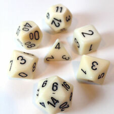 Dice Set: Opaque Poly Ivory With Black (7) CHESSEX CHX 25400