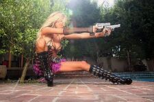 Hot Girl Blonde Gun Weapon 13x19 Art POSTER