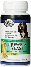 Brewers Yeast Tablets with Garlic 250 Count For Dogs & Cats New Control Shedding