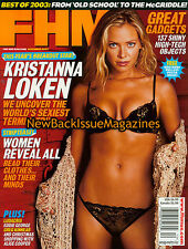 FHM 12/03,Kristanna Loken,December 2003,NEW
