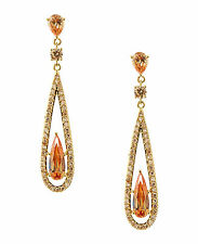 CAROLEE New York 'The Looking Glass' Topaz Crystal Linear Gold-Tone Earrings