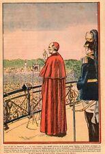 14 LISIEUX PIE XII DEVANT PELERINS RELIGION IMAGE 1939 OLD PRINT