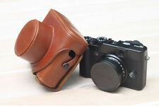 Brown Leather Camera Hard Case Bag Cover For Fujifilm Fuji X10 X20 Finepix NEW