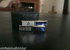 $400 DUNHILL Mother of Pearl Folding Travel Cufflinks with Case