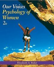 Our Voices : Psychology of Women by Elizabeth A. Rider (2004, Paperback,...