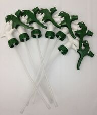 (Lot of 6) Trigger Sprayers Spray Bottle Nozzle for 32oz Bottle - Green & White