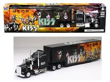NEWRAY 1:43 KENWORTH W900 KISS ROCK BAND TRUCK TRAILER SS-15473