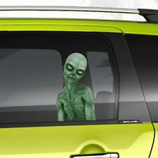 Evil Alien Monster Peeking Car Funny Joke Novelty Sticker Vinyl Decal Gift Xmas