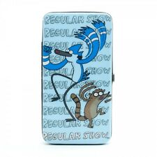 Regular Show Mordecai & Rigby Hinge Hinged Padded Purse Blue Wallet Cover Case