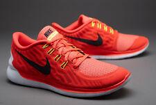 Nike Free run 5.0 Tamaño de ejecución 41 aerobic zapatos rojo neón flyknit nuevo