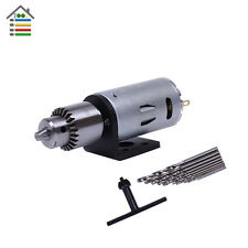 Micro Hand Electric Drill 12V DC Motor PCB Press JTO Chuck W/Stand Bracket Twist