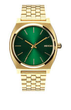 Nixon time plato de oro/Green Sunray watch reloj