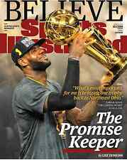LEBRON JAMES - CLEVELAND CAVALIERS SPORTS ILLUSTRATED MAGAZINE  JUNE 27 2016 NBA