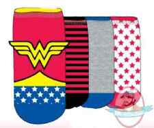 Dc Superheroes Wonder Suit Women's 4 Pair Shorties Socks DCX0114S4