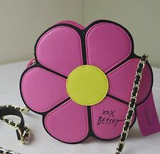 Betsey Johnson Pink Daisy Flower Crossbody