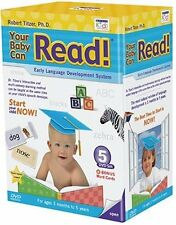 YOUR BABY CAN READ Early Language Development System 5 DVD's (Free Shipping)