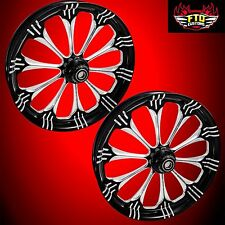 "Hayabusa, GSXR, ZX14 Custom 360mm Wheels,""Warlock"" wheel set"